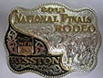 Hesston Gold and Silver Plated 2013 National Finals Rodeo NFR Adult Belt Buckle New in original display box
