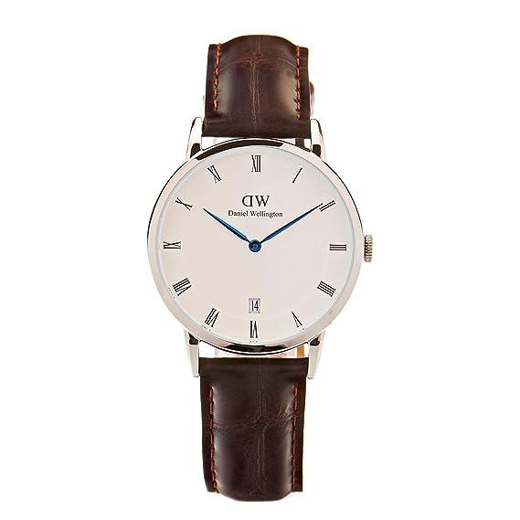 Daniel Wellington Reloj Analógico para Mujer de Cuarzo con Correa en Cuero DW00100097: Amazon.es: Relojes