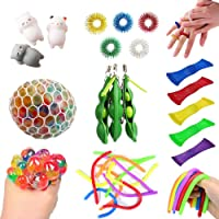 Sensory Fidget Toys Set, Anxiety Tools Bundle DNA Stress Relief Balls with Fidget Hand Toys for Anxiety Kids & Adults…