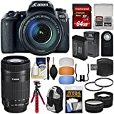 Canon EOS 77D Wi-Fi Digital SLR Camera & EF-S 18-135mm IS USM with 55-250mm Lens + 64GB Card + Backpack + Battery & Charger + Tripod + 2 Lens Kit