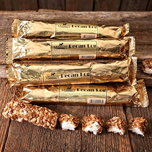 Georgia Pecan Logs Gift Box - Mascot Candy Kitchen Since 1955 (6 Individually Wrapped 4 oz Pecan Logs) Arrives in our Gift Box ()