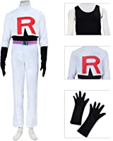 Dazcos Adult / boys Team Rocket James Printed R Cosplay Costume