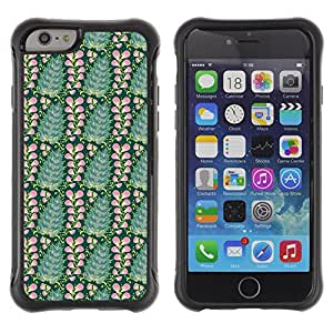 FlareStar Colour Printing cute flower Heavy Duty armadura cubierta silicona prueba golpes caso resistente para Apple iPhone 6(4.7 inches)