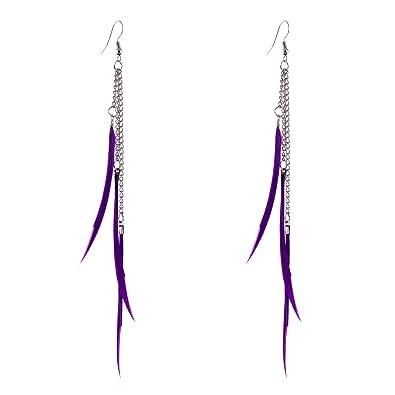 Dangle Filles Hook Lureme® Femmes Longue Ear Boucles D Gland Plume rxeBdWCo