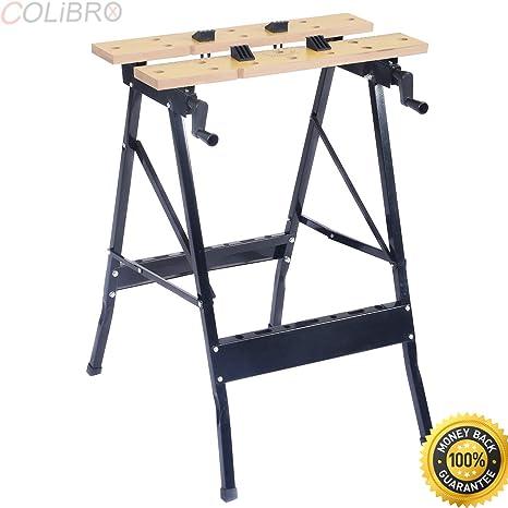 COLIBROX  Folding Portable Work Bench Table Tool Garage Repair Workshop  350lb Capacity. Work