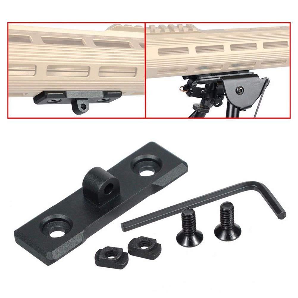 LIOOBO Einziehbare einstellbare Gewehr Zweibeinstativ-Adapter f/ür Jagdgewehr-Werkzeug