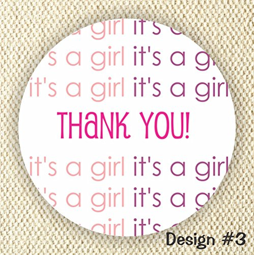 It's a Girl Favor Stickers - Baby Shower Stickers - Favor stickers- Thank you for Celebrating with me from Philly Art & Crafts