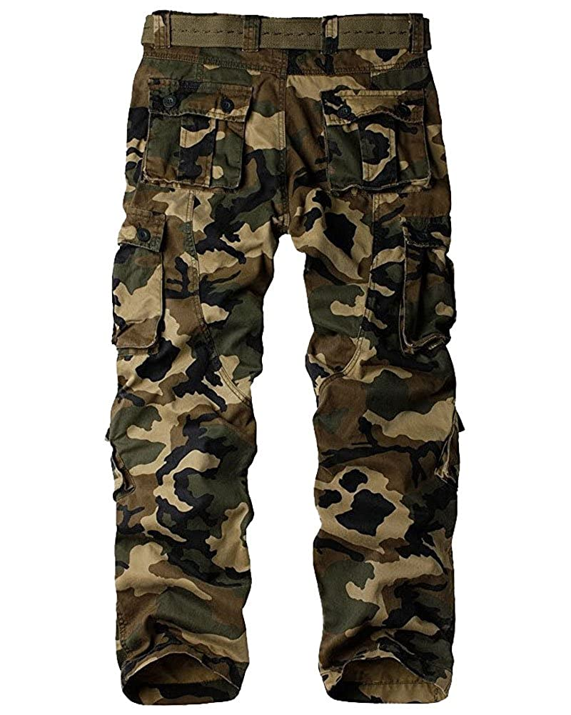 32d6a4b3f Mens Cargo Pants, BDU Casual Tactical Work Camo Cargo Military Army Black  Wild Combat Pants for Men at Amazon Men's Clothing store:
