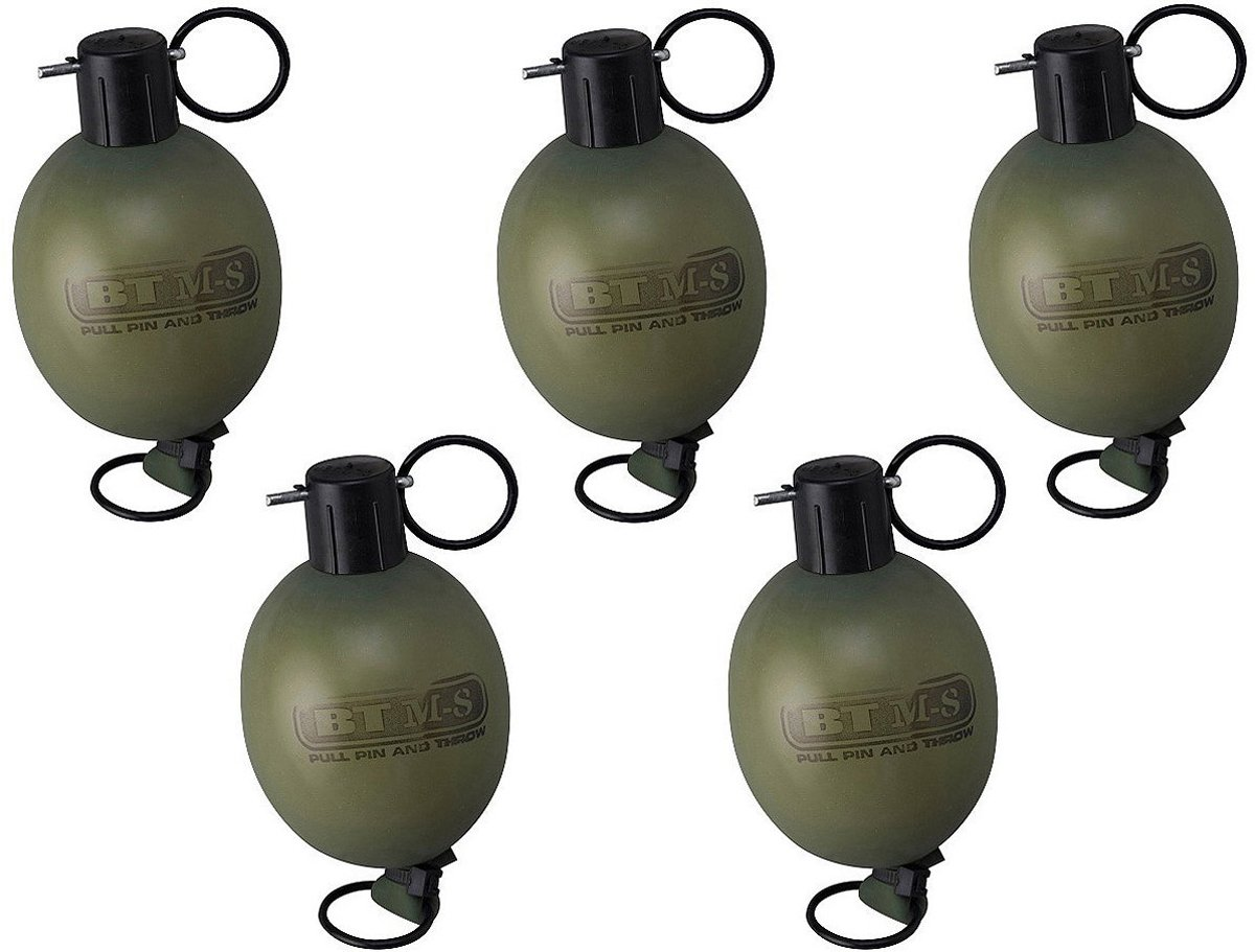 Empire Paintball Empire BT M8 PULL PIN Paint Grenade, (Green/Yellow) - 5 Pack by Empire