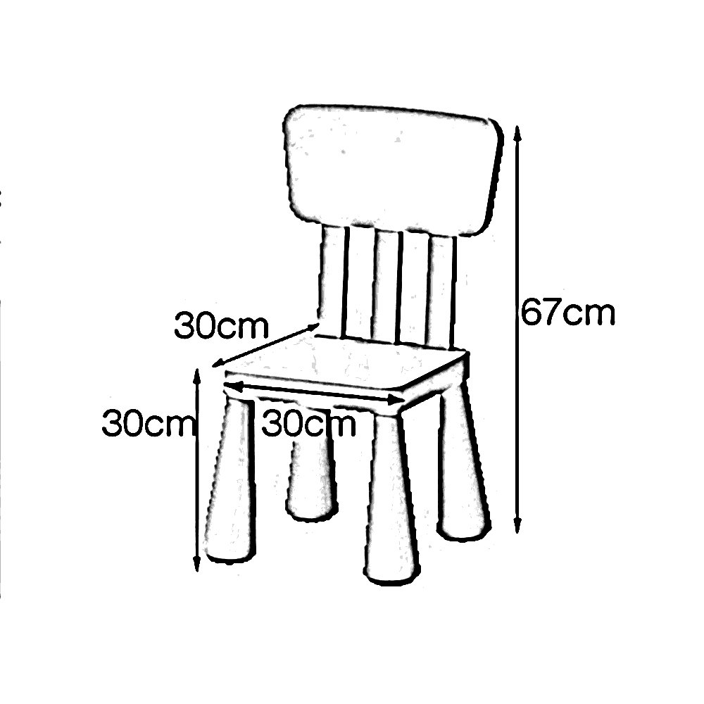 ZHANGRONG- Children's table and chairs Kindergarten table and chair Baby learning table and chair Plastic game table Draw table (Color : B) by Barstools (Image #2)