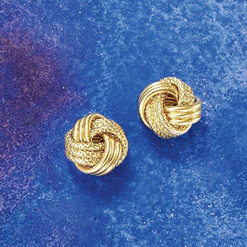 Ross-Simons 18kt Yellow Gold Textured Love Knot Earrings by Ross-Simons (Image #2)