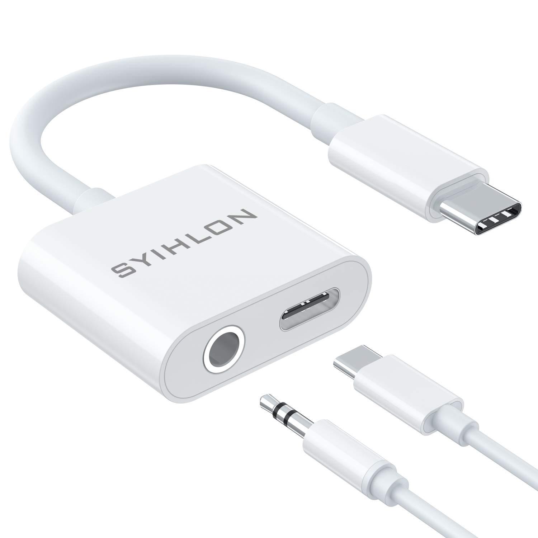 Adaptador USB-C a 3.5mm Auricular Charger Hi-Res Sound Compa