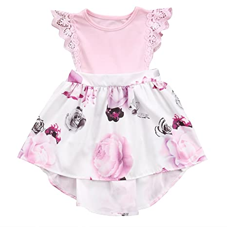 1cf0667d0b48 Big Sister Little Sister Floral Matching Clothing Lace Ruffle Sleeve ...