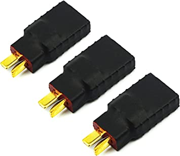 New 3 X TRX Female To T-plug Male Deans Connector Adapter