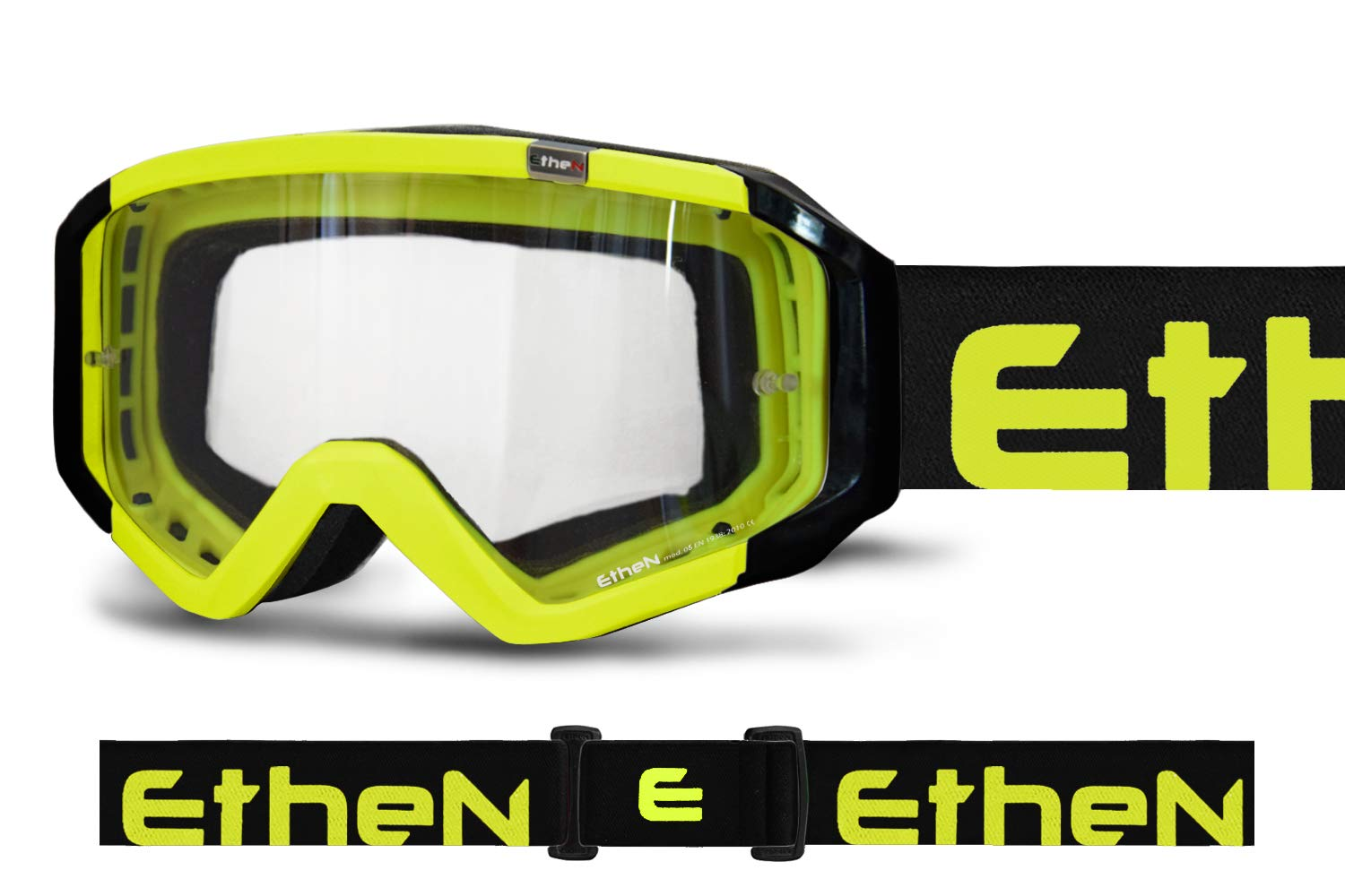 ETHEN MX0529 BASIC MASK YELLOW FLUO DIRT by ETHEN