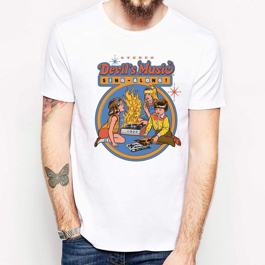 Demoni Rituale Horror Spaventoso Devil 15 S Printing S Funny Short Sleeves Shirts