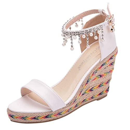 Amazon Com Vesniba Women S Wedges Sandals Female Tassel