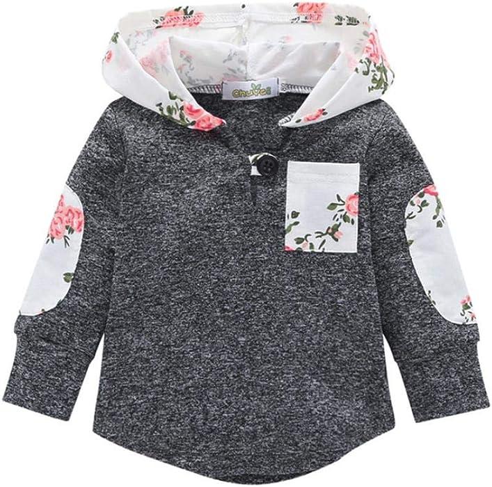 5ba0514b4 Amazon.com  Baby Girls Boys Winter Hoodie Toddler Kid Floral Sweater ...