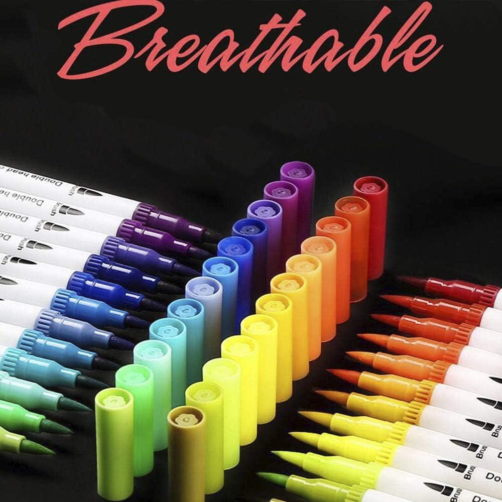 Bullet Journal 80 Farben mit Kugelschreiber Filzpinsel Skizzieren Aquarell Doppelspitze 0,4 mm Filzstift zum Ausmalen feine Spitze Mandalas Comic. f/ür Malerei f/ür Zeichnen