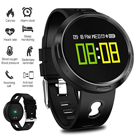 Smart Watch Fitness Tracker,LIGE Waterproof Heart Rate Monitor Colour Screen Fitness Watch Activity Tracker Pedometer with Sleep Monitor Step Calorie ...