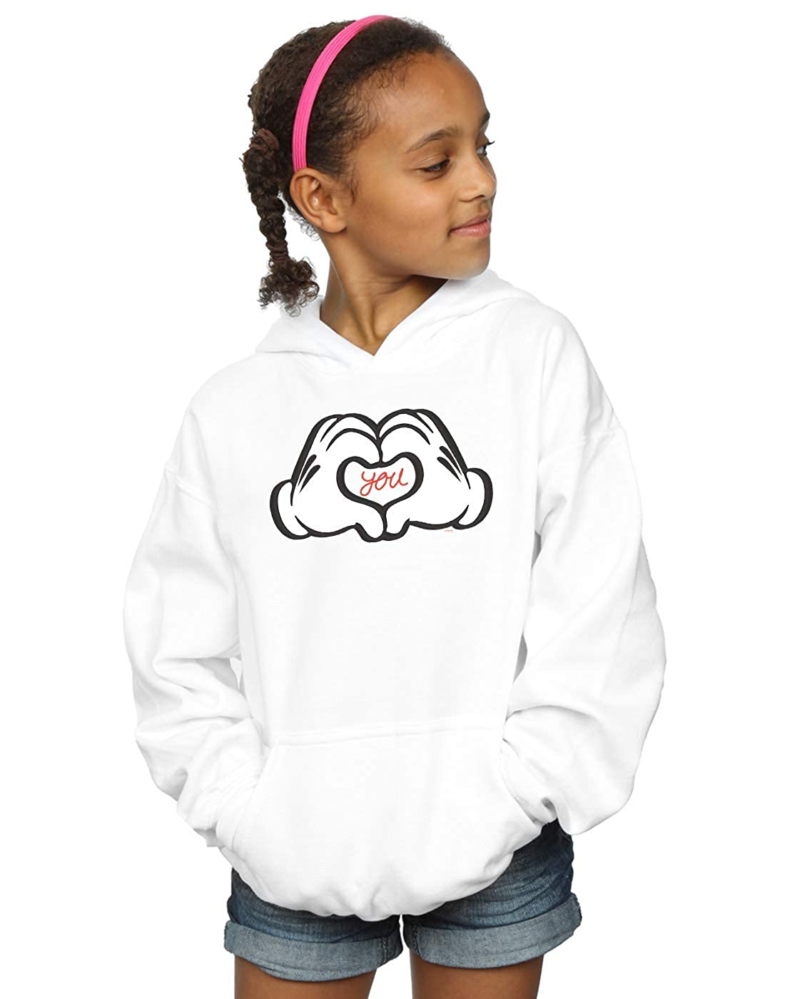 Disney Girls Mickey Mouse Loves You Hoodie