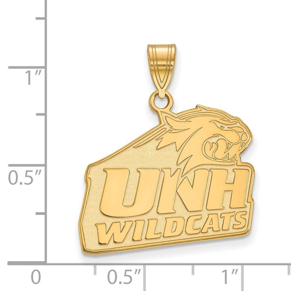 Lex /& Lu LogoArt Gold Plated Sterling Silver University of New Hampshire Large Pendant LAL156505