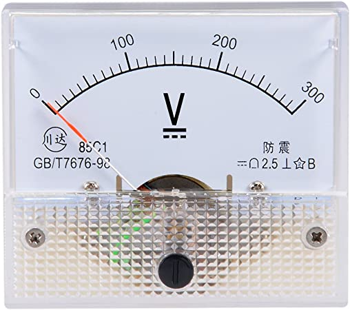 Uxcell a10052100ux0269 DMiotech Direct Current 0-5 V White Voltmeter Analog Panel Meter