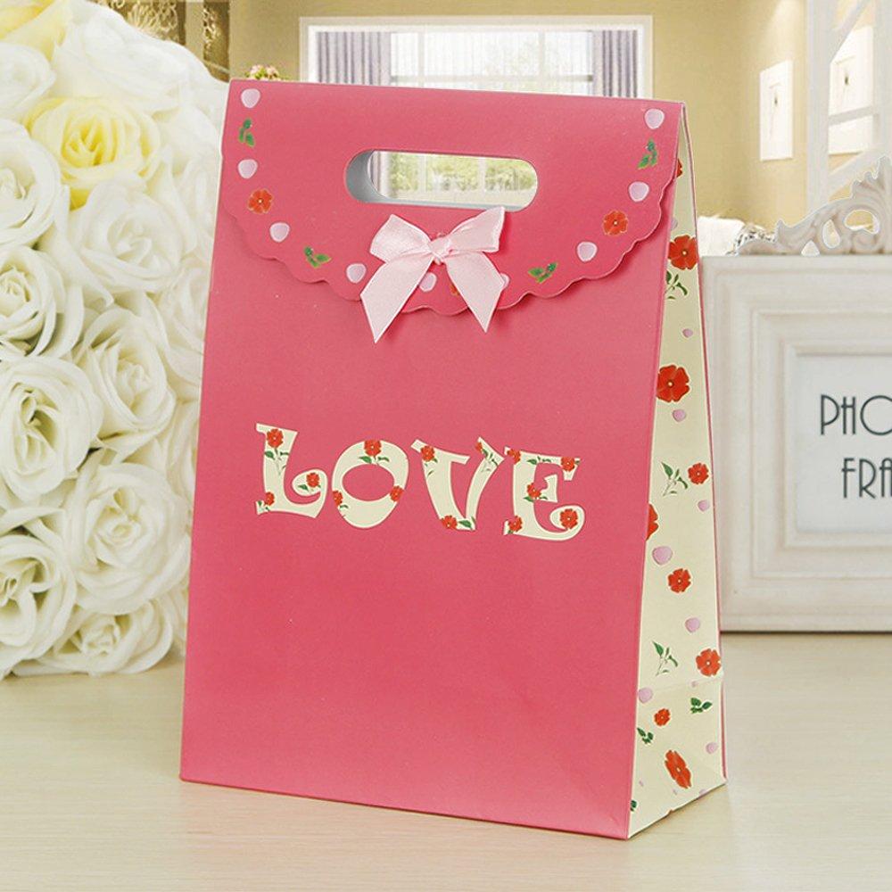Amazon.com: PER-HOME Premium Quality Paper Gift Bags-Party Favor ...