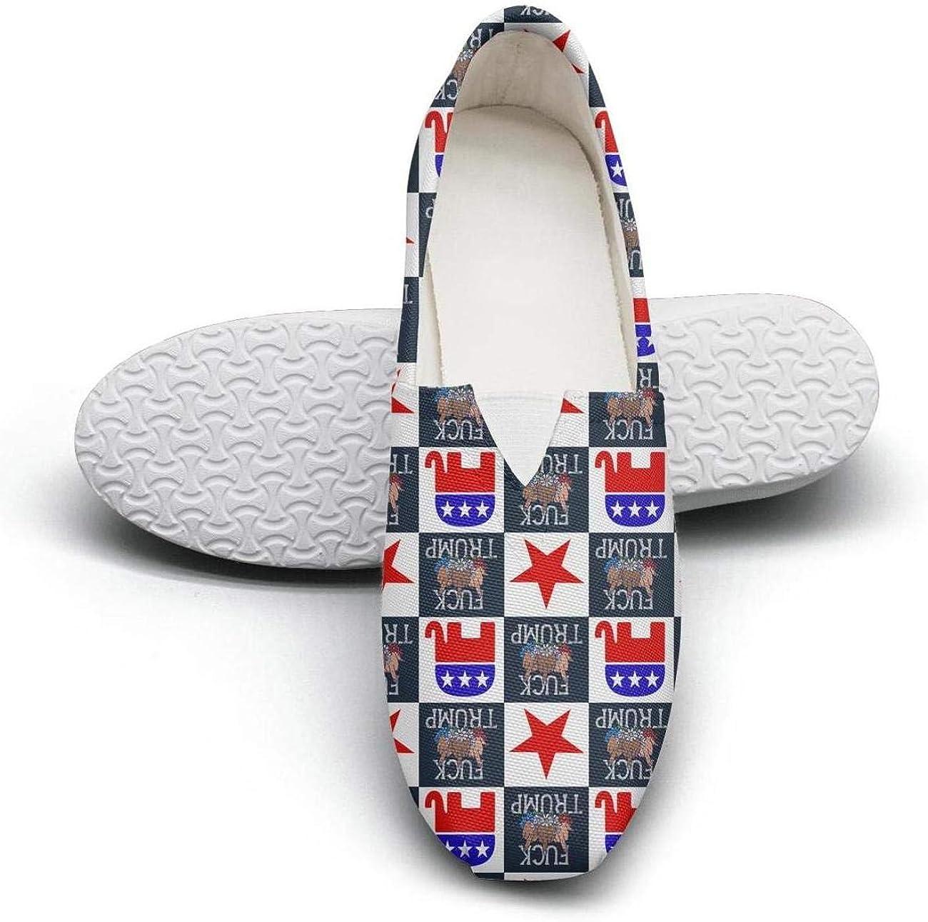 Woman Trump-Train-2020 Comfortable Slip on Canvas Retro Sneaker Shoes
