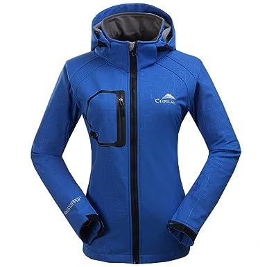 CIKRILAN Femme Imperméable Coupe vent Capuche Veste Softshell Outdoor Sport Camping Randonnée Trekking Manteau