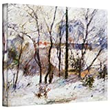 Paul Gauguin 'Garden Under Snow' gallery-wrapped canvas is a high-quality canvas print that captures the post-impressionist style. It reduces forms and depth to strokes of color, offsetting bare branches against white snow. Eugene Henri Paul Gauguin ...
