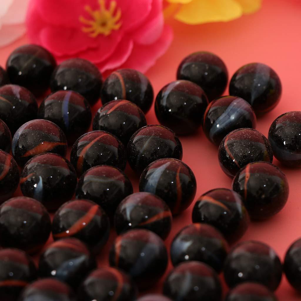 Homyl 90pcs 16mm Billes de Verre Transparent Boules Perles pour Fish Tank Pot de Fleurs Jardinage L/âche Vase d/écor A