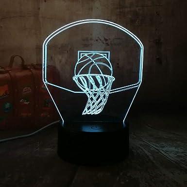 LPHMMD Luz de la noche 3D Aro de baloncesto Deporte Decoración del ...