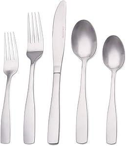 Matte Silverware Set, Satin Finish 20-Piece Stainless Steel Flatware set, Tableware Cutlery Set Service for 4,Utensils for Kitchens, Dishwasher Safe