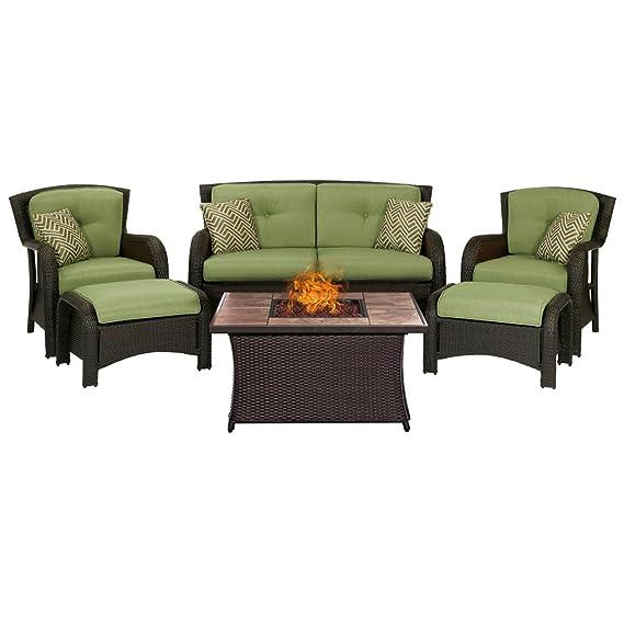 Amazon.com: Hanover STRATH6PCFP-BLU-TN Strathmere Lounge ...