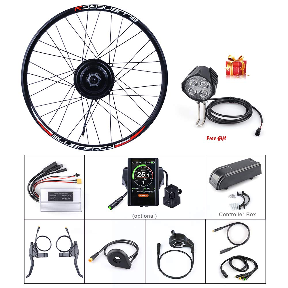 BAFANG 48V 500W Front Hub Motor Brushless Gear Bicycle Electric Bike  Conversion Kit with LCD Display for 20 26 27 5 700c inch Wheel Drive Engine