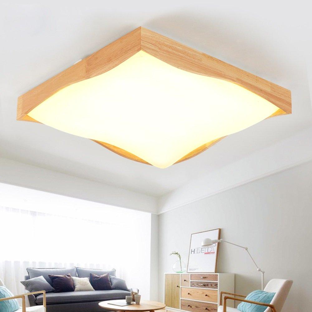 Moderne Deckenleuchte Wohnzimmer   Holz Moderne Deckenleuchte Moderne Holz Einfache Wohnzimmer