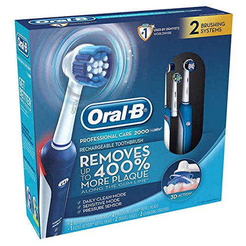 Oral-B Pro Care 2000 Dual Handle Rechargeable Toothbrush