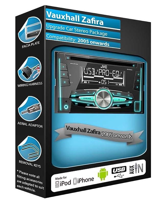 Vauxhall Zafira CD player radio, JVC car stereo with: Amazon.co.uk ...