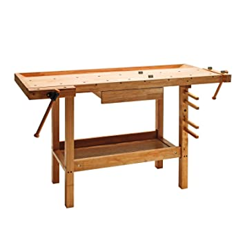 Turbo DEMA Hobelbank Werkbank Holz 137x50x86 cm: Amazon.de: Baumarkt OF59