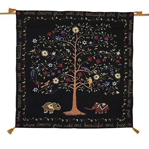 Ten Thousand Villages Embroidered Cotton Hanging