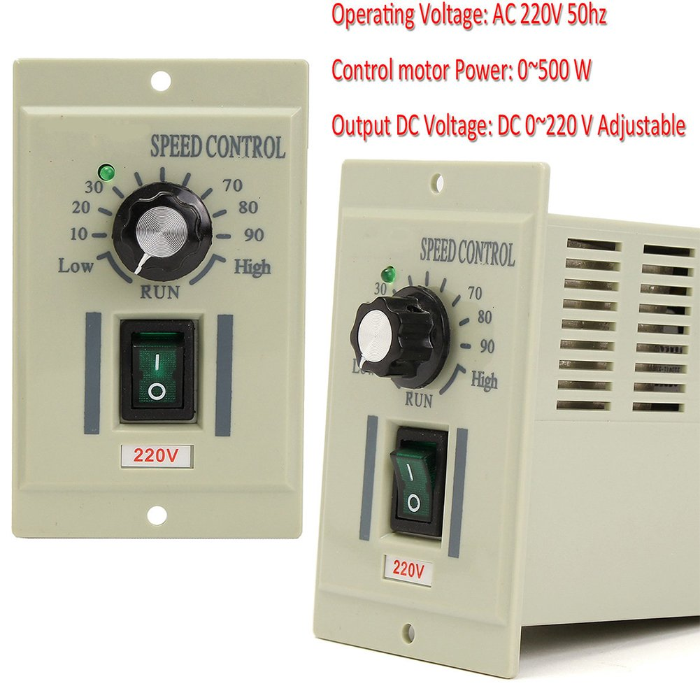 Motor Speed Controller Ac 220v 50hz Knob Variable Low Voltage Dc Control Circuit For 0 500w Gray Diy Tools