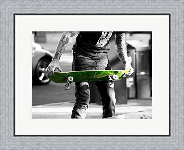 Amazon.com: Green Skateboard Art Print, 24 x 18 inches: Posters & Prints