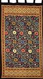 Sunflower Print Tab Top Curtain Drape Panel Cotton 44″ x 88″ Yellow Black Review