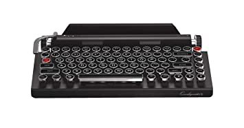 Qwerkywriter S Typewriter Inspired Retro Mechanical Wired \u0026 Wireless  Keyboard with Tablet Stand