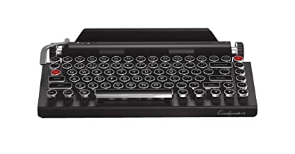 Qwerkywriter S Typewriter Inspired Retro Mechanical Wired   Wireless  Keyboard with Tablet Stand 174d0c88d
