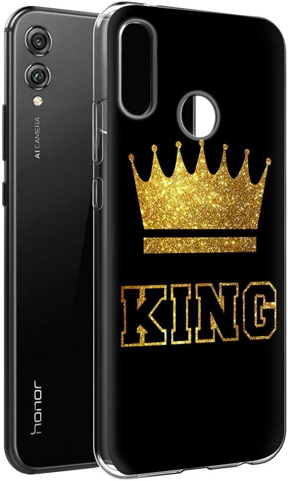 Yoedge Funda Honor 8X, Silicona Ultra Slim Cárcasa con King Queen ...