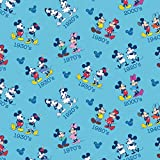 Springs Creative 61813-D650715 Disney-Mickey and Minnie Vintage 43/44'' 100% Cotton, 15 yd