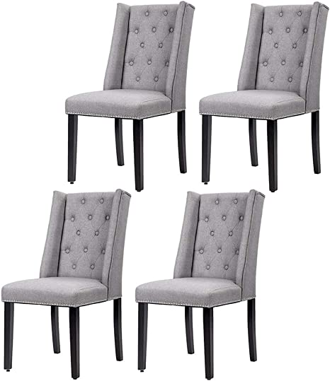 Fdw Dining Chairs Dining Room Chairs Kitchen Chairs For Living Room Side Chair For Restaurant Home Kitchen Living Room Set Of 4 Gray Grey Chairs