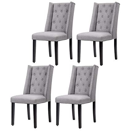 Amazon.com Kitchen Chairs (Set of 4) Dining Room Chairs Parsons Dining Chairs Side Chair for Restaurant Home Kitchen Living Room Home u0026 Kitchen  sc 1 st  Amazon.com & Amazon.com: Kitchen Chairs (Set of 4) Dining Room Chairs Parsons ...